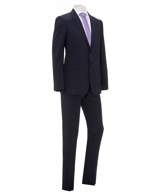Emporio Armani Mens Blue Natural Stretch Wool Suit