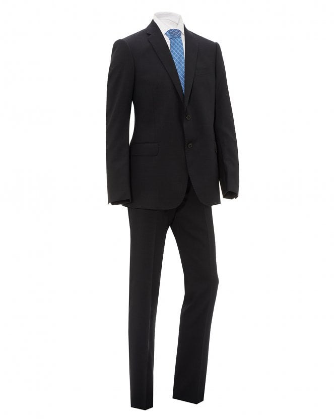 Emporio Armani Mens Charcoal Grey Natural Stretch Wool Suit