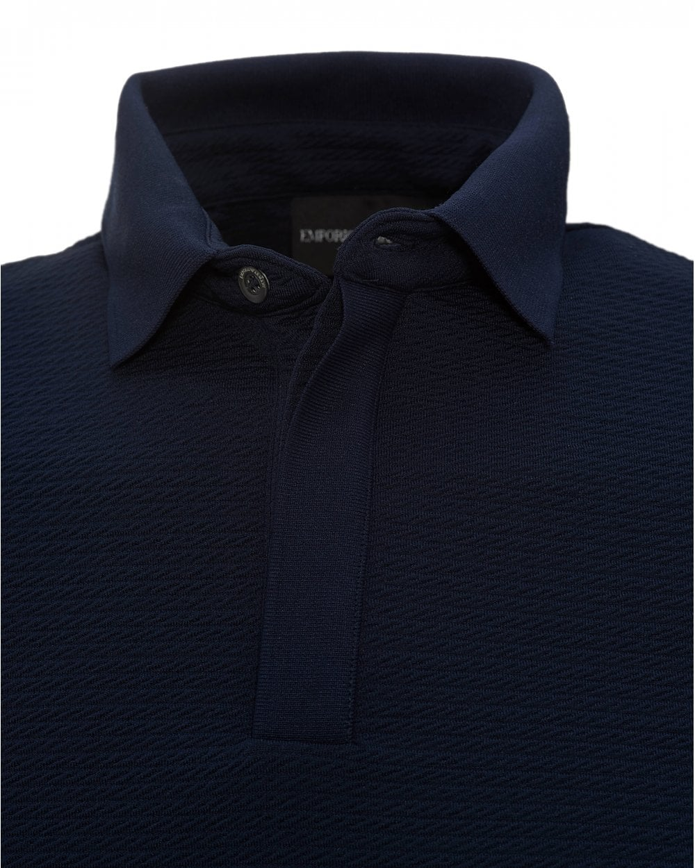 2a8b2e7c44 Mens Cotton Waffle Knit Pattern Polo Shirt