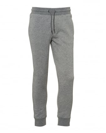 Mens Cuffed Trackpants, Drawstring Waist Grey Sweatpants