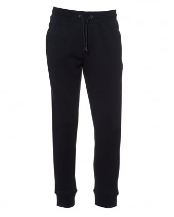 Mens Cuffed Trackpants, Drawstring Waist Navy Blue Sweatpants