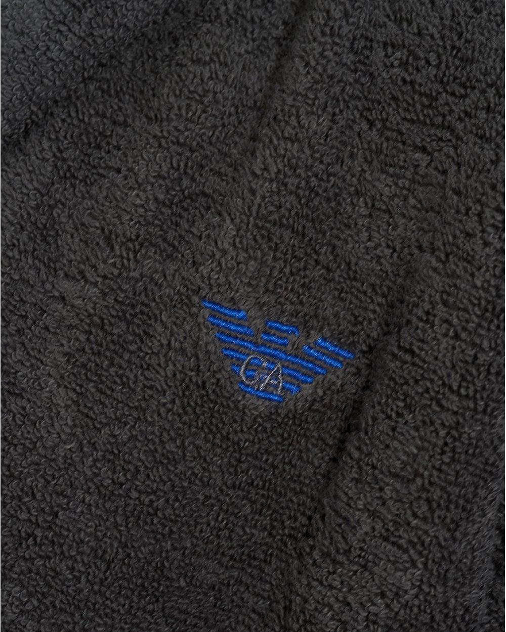 Emporio Armani Mens Eagle Logo Grey Hooded Robe eab86d725