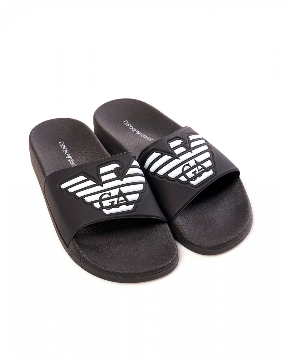 601e537f3 Emporio Armani Mens Eagle Logo Sliders
