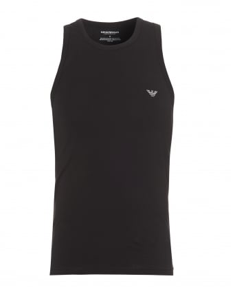 Mens Eagle Logo Vest Top, Sleeveless Black Vest