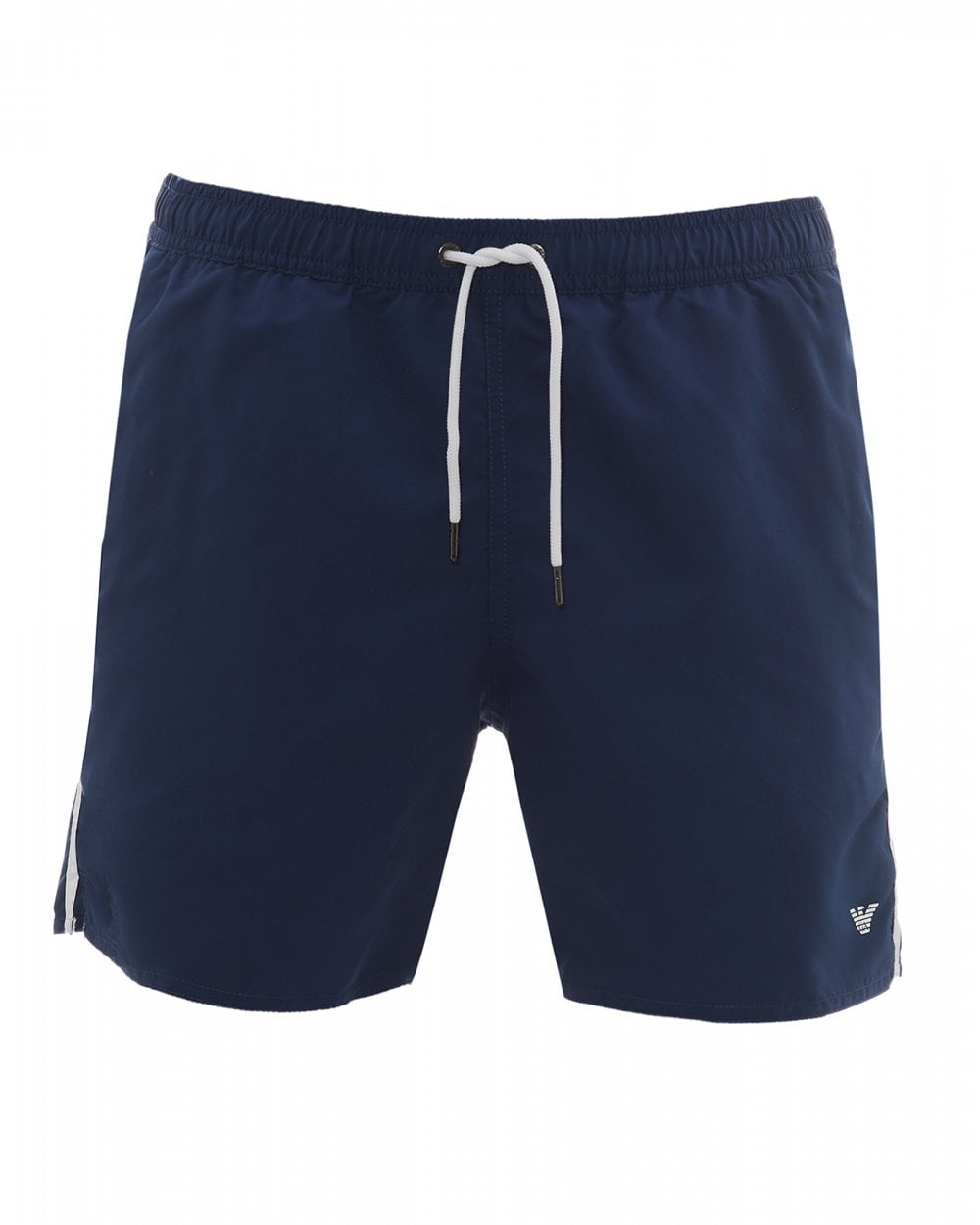 4a2dec4cc8 Emporio Armani Mens Eagle Swimshorts, Navy & White Swimming Trunks
