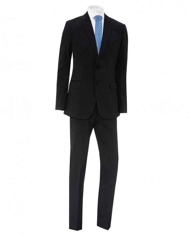Emporio Armani Mens Grey Slim Fit Virgin Wool Suit