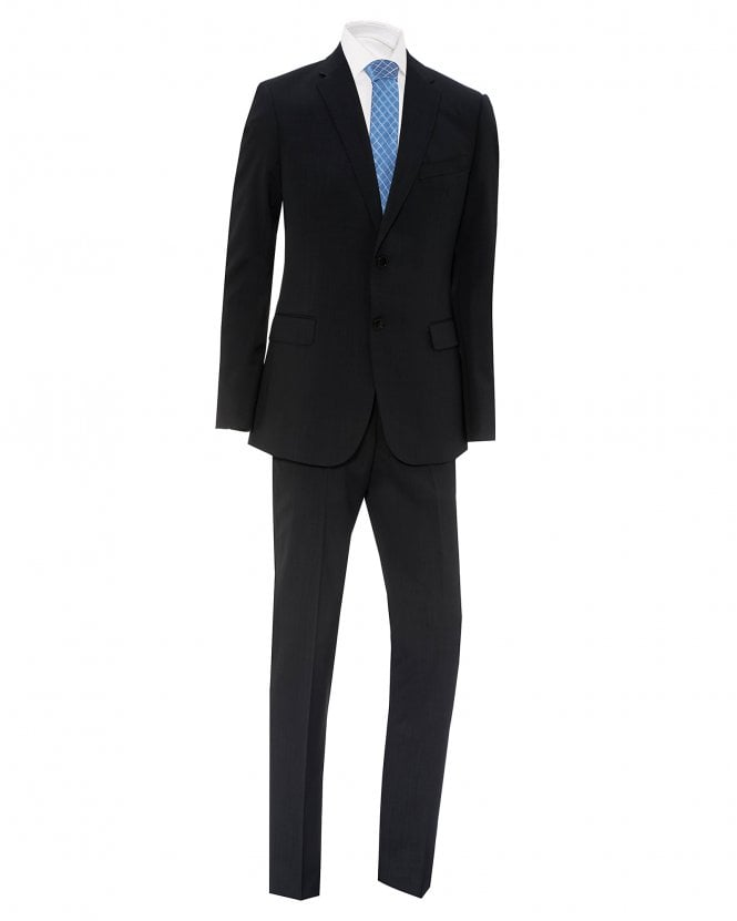 Emporio Armani Mens Grey Slim Fit Virgin Wool Suit