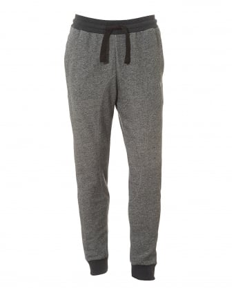 Mens Grey Trackpants, Regular Fit Logo Sweatpants