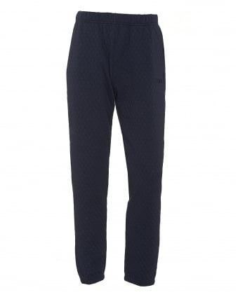 Mens Honeycomb Jersey Navy Blue Trackpants
