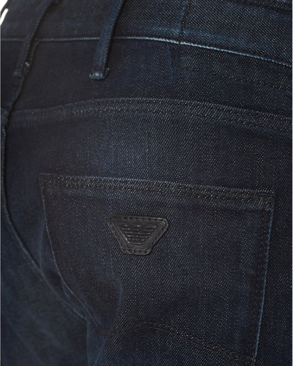 3f3e76ac Mens J06 Jeans, Dark Whiskered Thighs Navy Slim Fit Denim