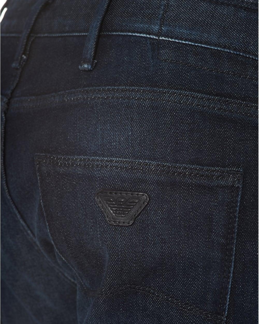 fd8fefdd Mens J06 Jeans, Slim Fit Mid Whisker Navy Denim