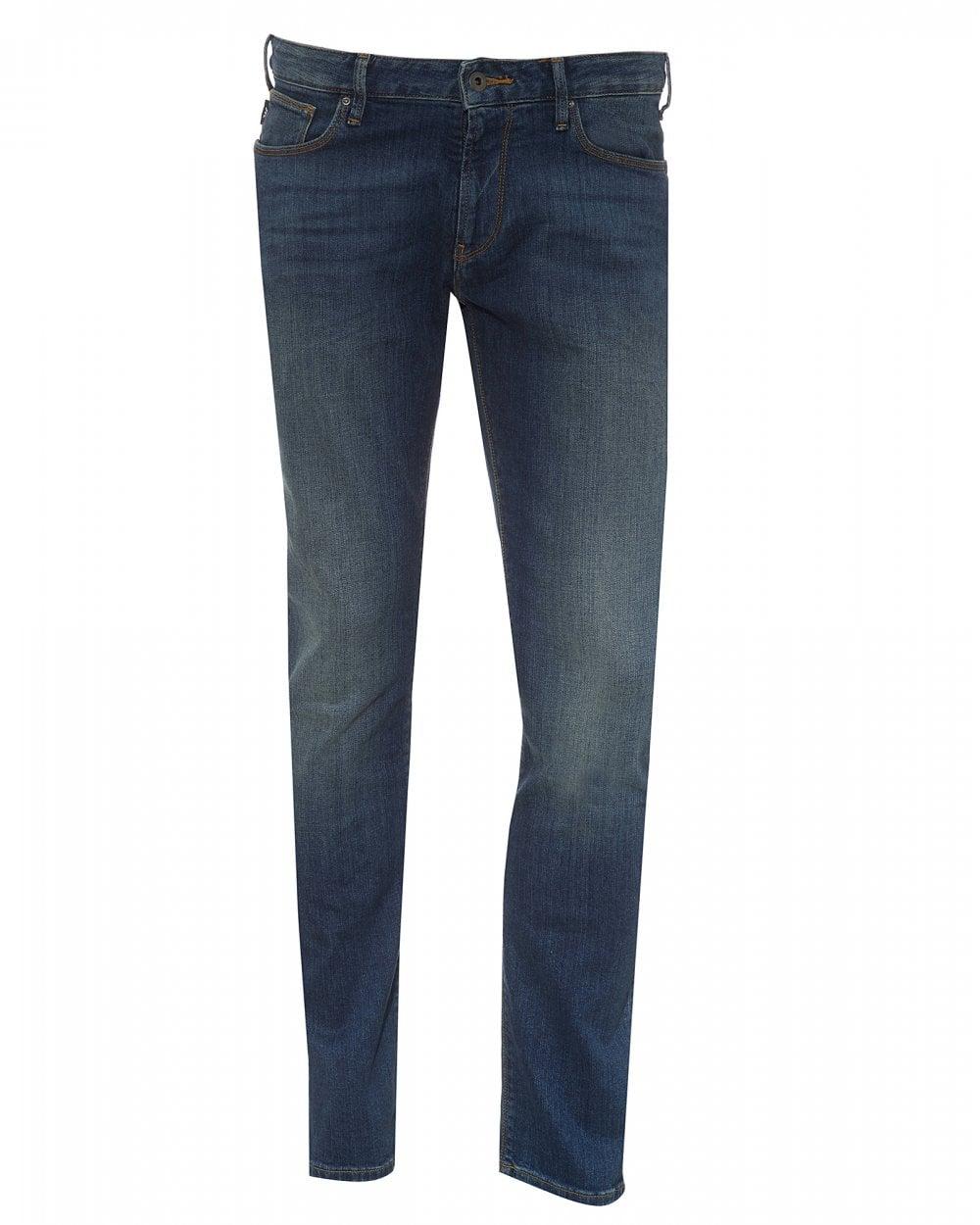 e9a652fe Mens J06 Mid Vintage Blue Slim Fit Jeans, Straight Denim