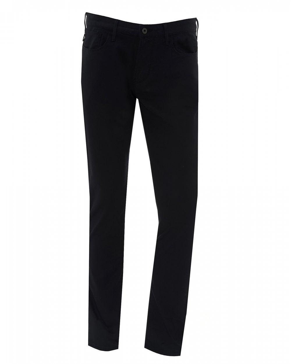 30a012cebf Mens J06 Navy Gabardine Jeans, Slim Fit Stretch Cotton Denim