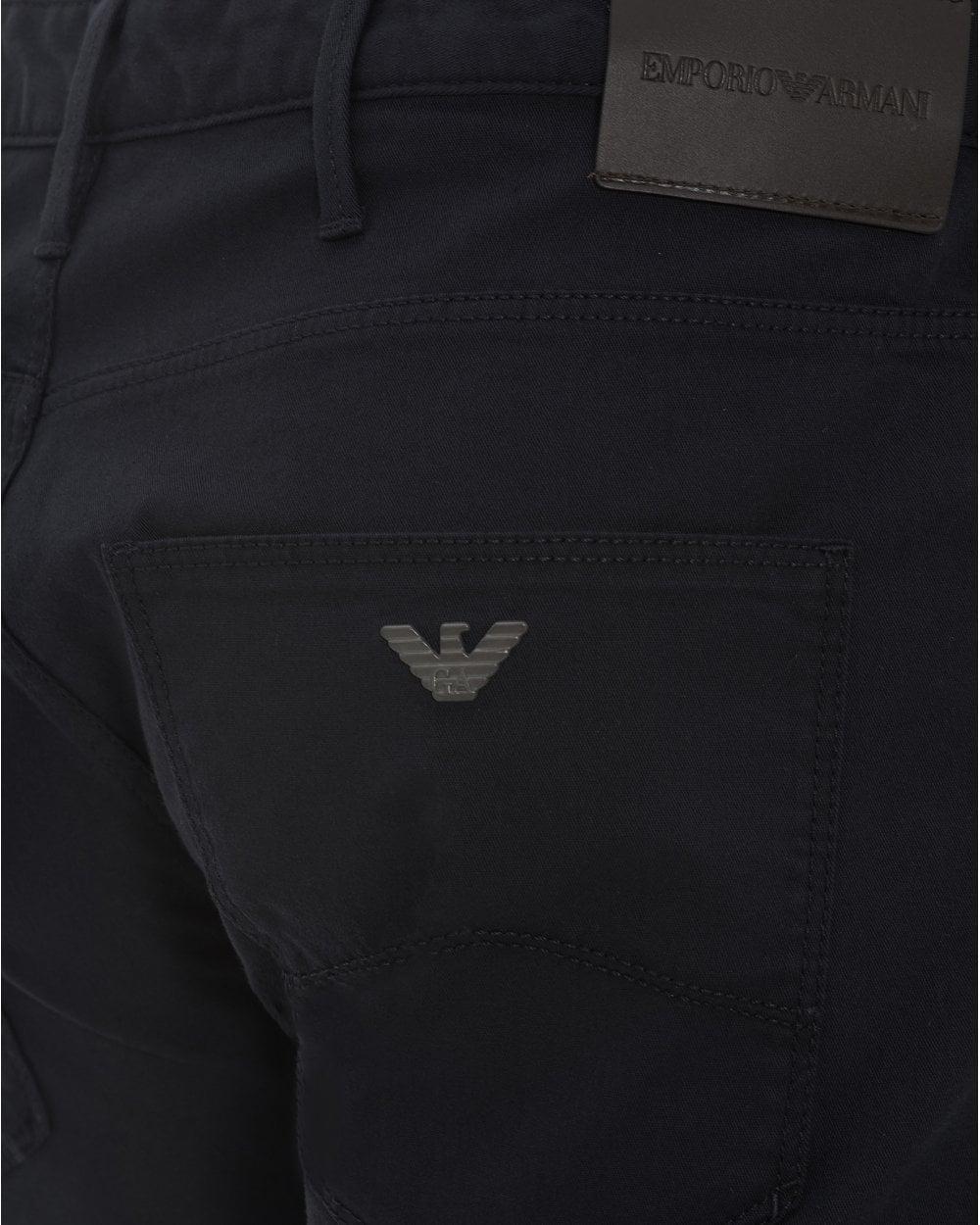 53ea36d9fb Mens J06 Navy Gabardine Jeans, Slim Fit Stretch Cotton Denim