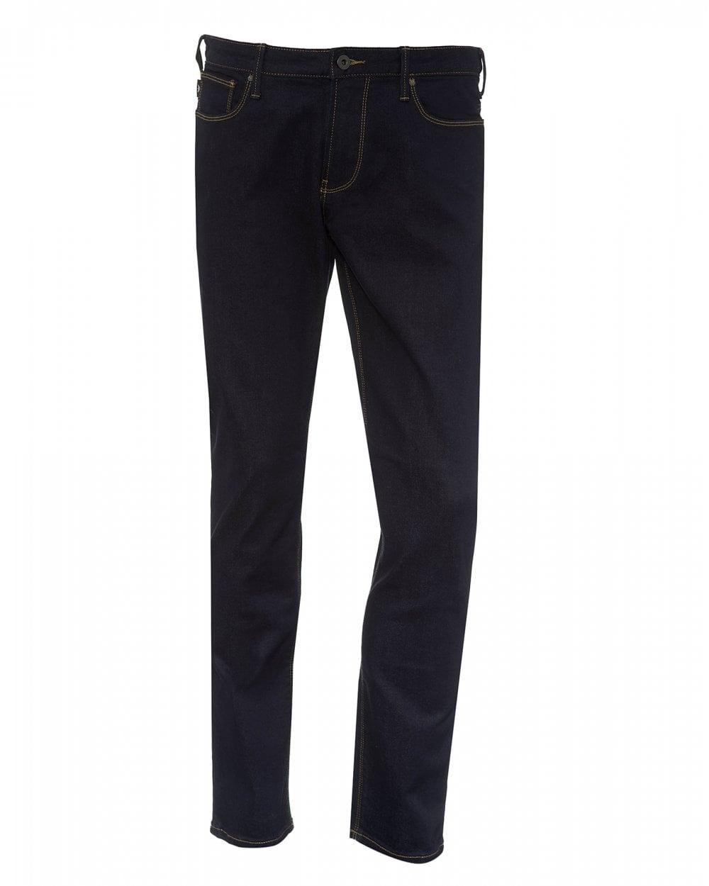 46645b8ee8e69 Emporio Armani Mens J06 Slim Dark Indigo Jeans