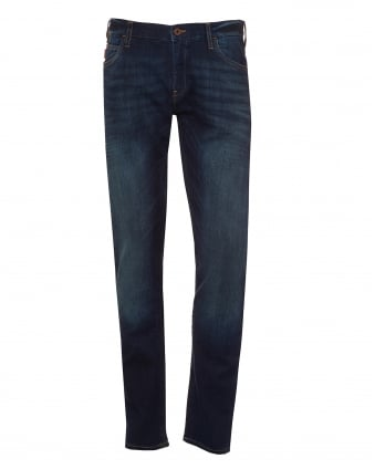 Mens J10 Extra Slim Fit Jeans, Vintage Wash Navy Denim