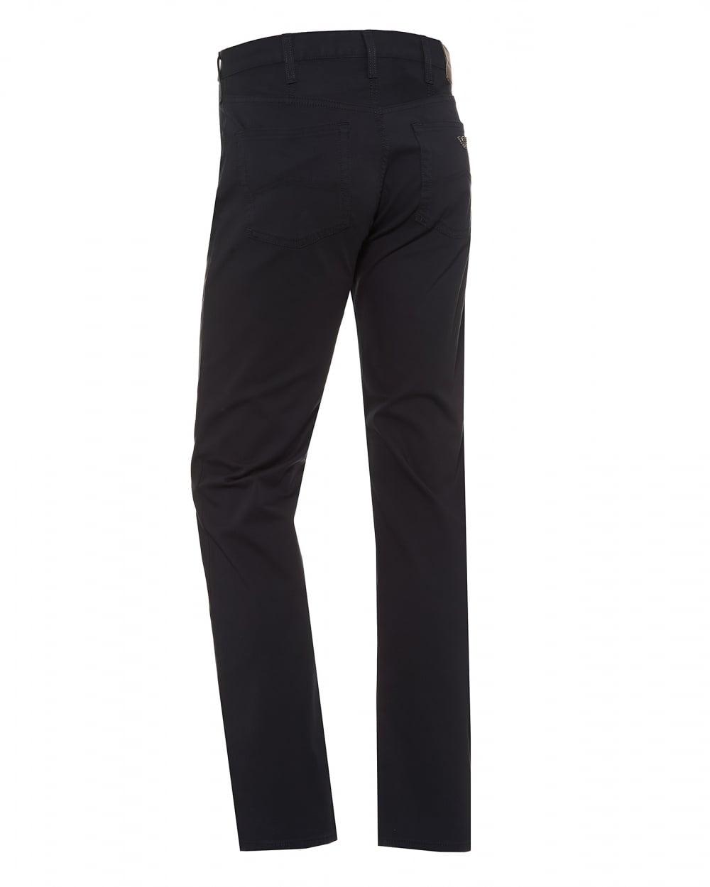 76d3a730835a Emporio Armani Mens J21 Comfort Stretch Gab Navy Regular Fit Jeans