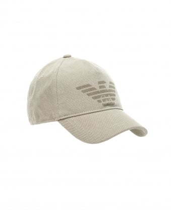 Mens Large Eagle Baseball Cap, Beige Hat