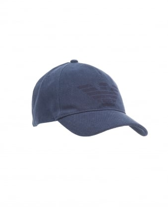 Mens Large Eagle Baseball Cap, Navy Blue Hat