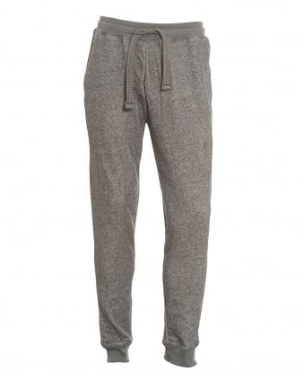 Mens Logo Elasticated Cuffed Grey Trackpants