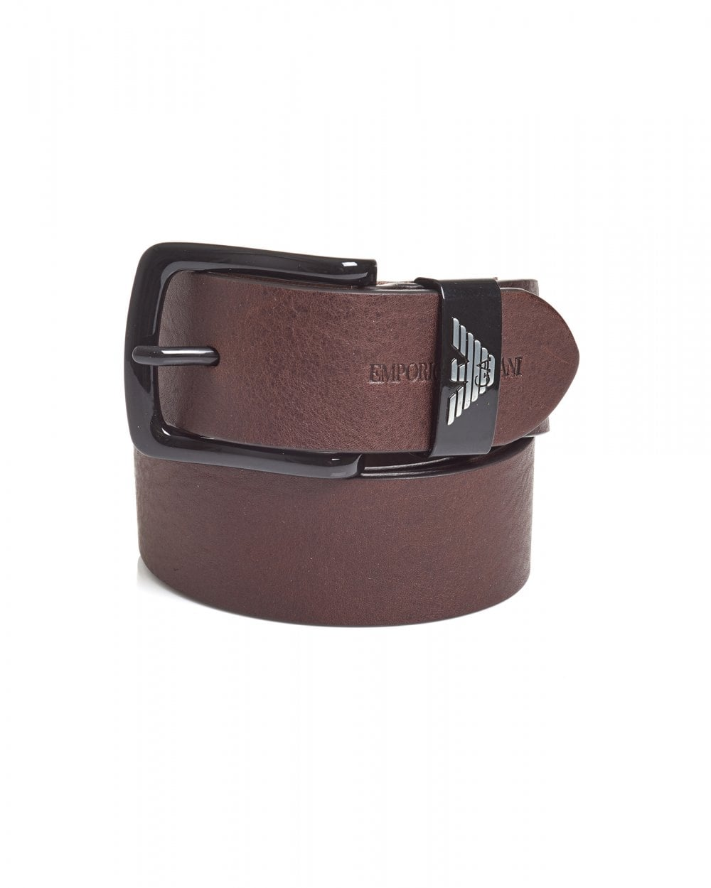 f0bb29c5 Mens Metal Eagle Keeper Brown Grained Leather Belt