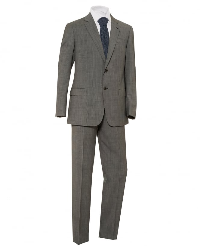 Emporio Armani Mens Micro Check 2 Button Wool Grey Suit
