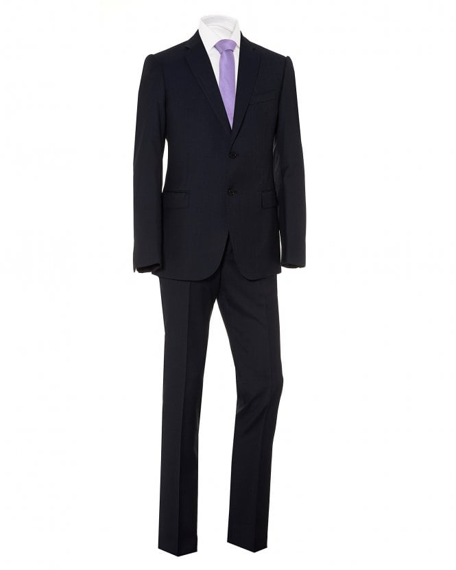 Emporio Armani Mens Modern Fit Suit, Navy Blue Virgin Wool Suit