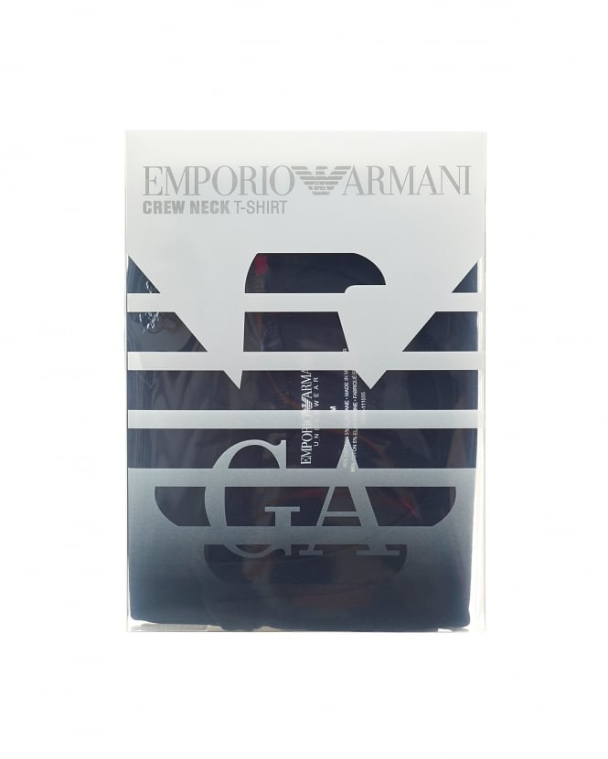 Emporio Armani Mens Multi Pack Boxers, Black Cotton Stretch Trunks