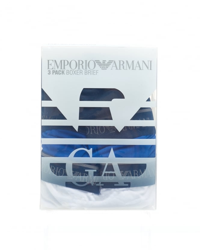 Emporio Armani Mens Multi Pack Boxers, Mixed Colour Cotton Stretch Trunks