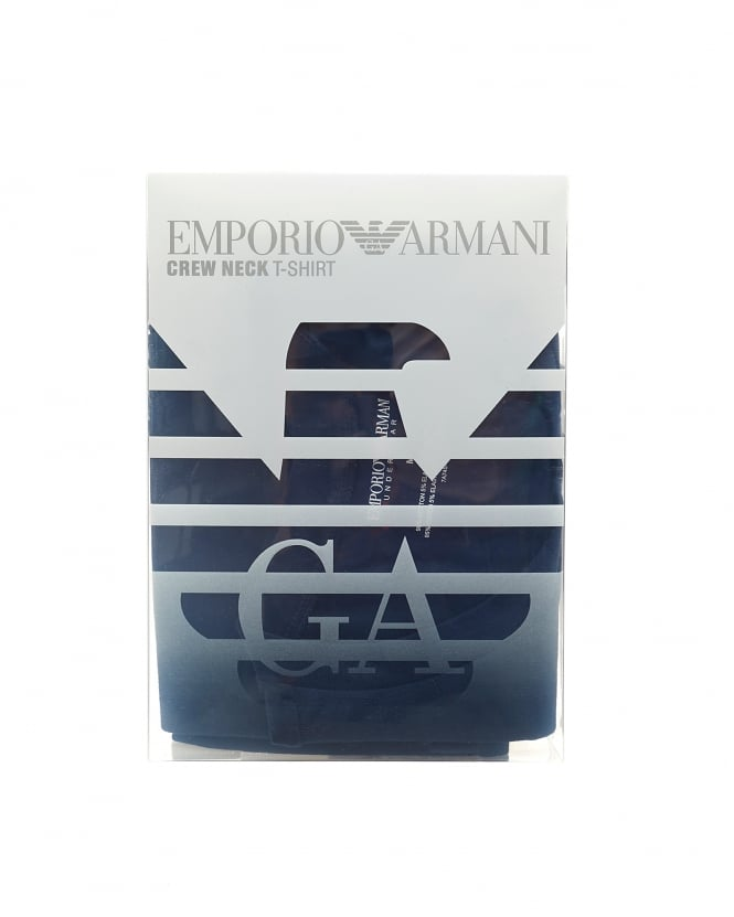 Emporio Armani Mens Multi Pack Boxers, Navy Blue Cotton Stretch Trunks
