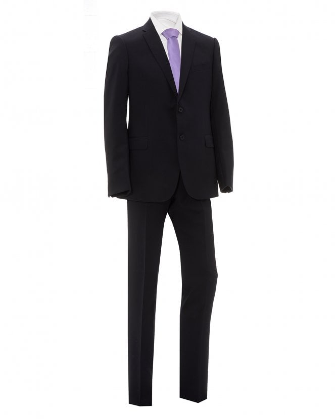 Emporio Armani Mens Navy Blue Natural Stretch Wool Suit