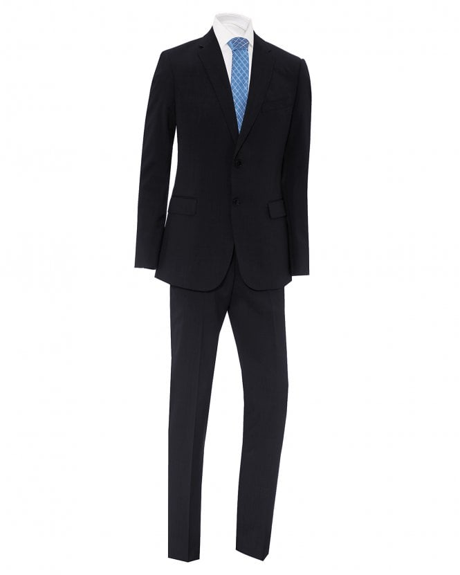 Emporio Armani Mens Navy Slim Fit Virgin Wool Suit