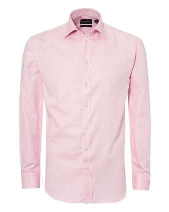 Mens Pin Point Cutaway Regular Fit Pink Shirt