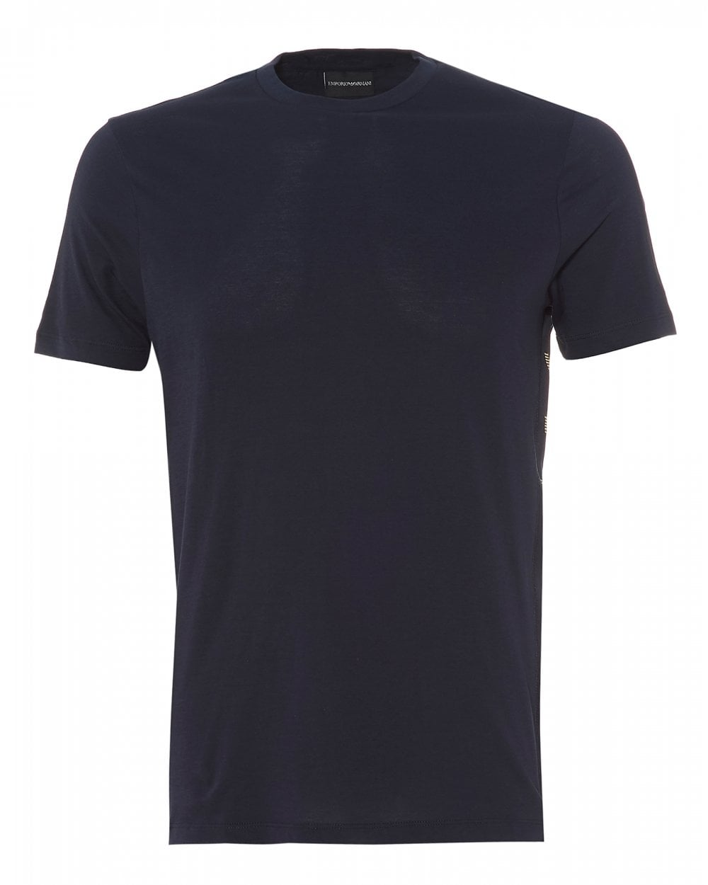 c995632d Mens Side Panel Taped T-Shirt, Navy Blue Regular Fit Tee