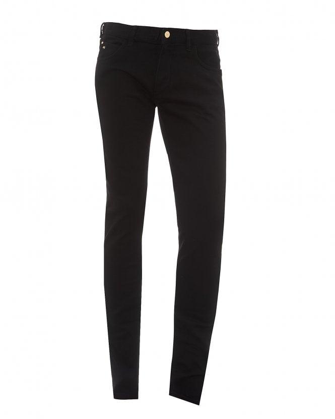 Emporio Armani Mens Slim Fit Jeans, Solid Back Denim