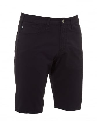 Mens Slim Fit Shorts, Cotton Navy Blue Shorts