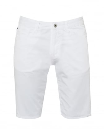 Mens Slim Fit Shorts, Cotton White Shorts