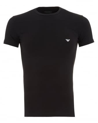 Mens T-Shirt, Black Small Logo Tee
