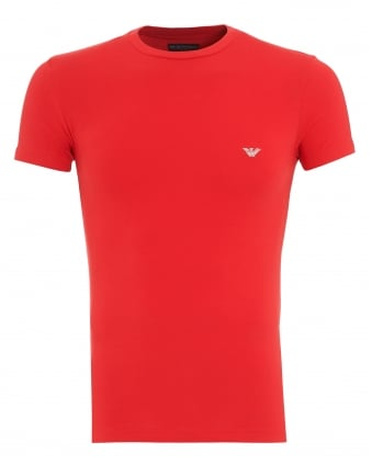 Mens T-Shirt, Red Small Logo Tee