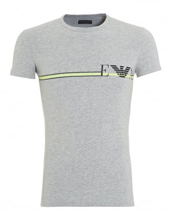 Mens T-Shirt, Stripe Logo Grey Tee