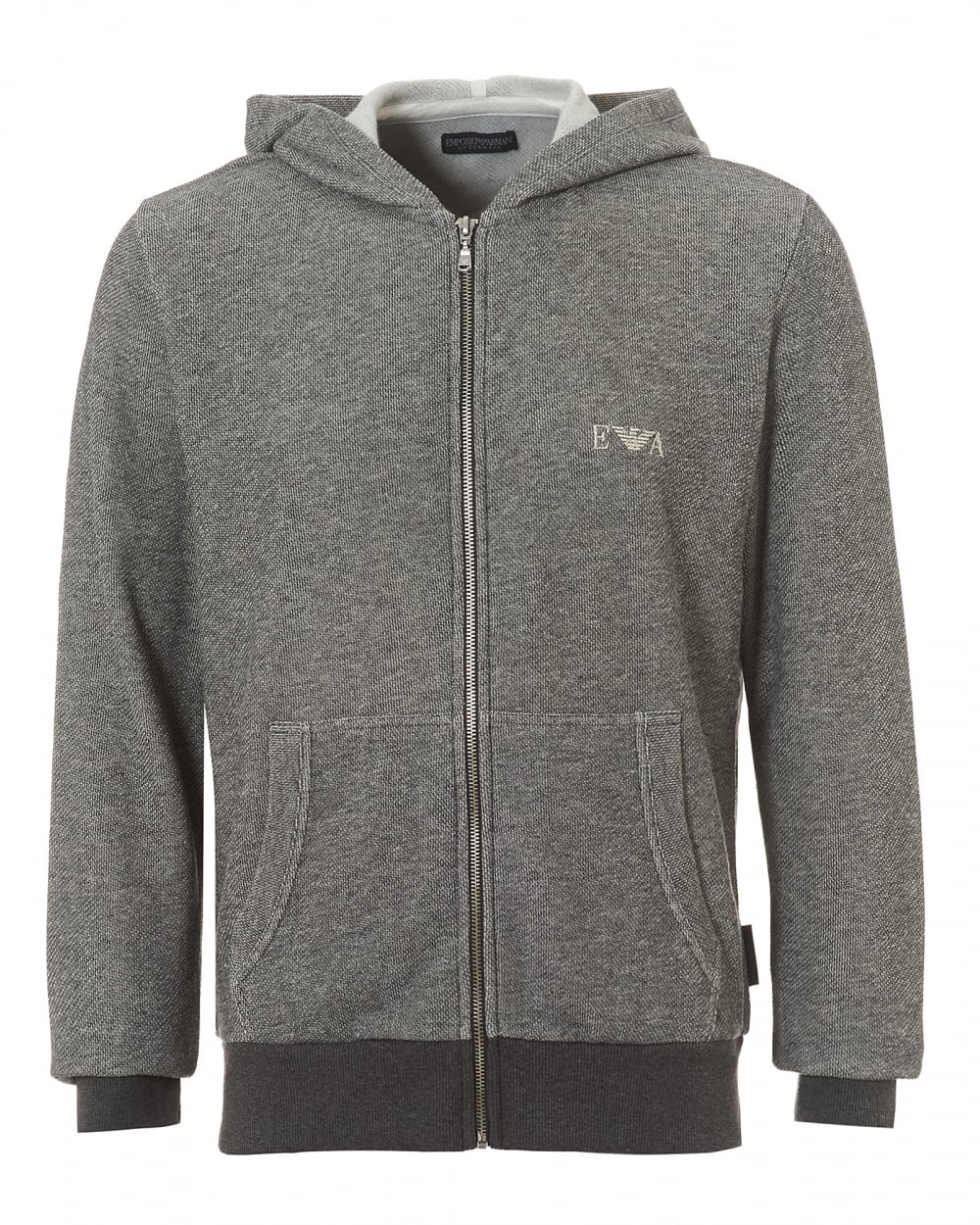 emporio armani grey hoodie