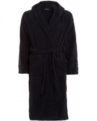 Navy Logo Dressing Gown