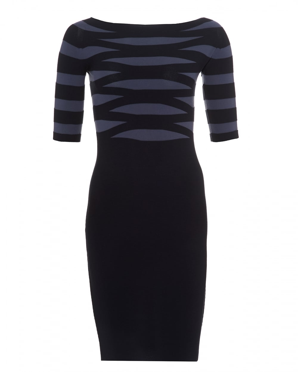 Emporio Armani Womens Banded Top Dress, Plain Skirt Navy ...