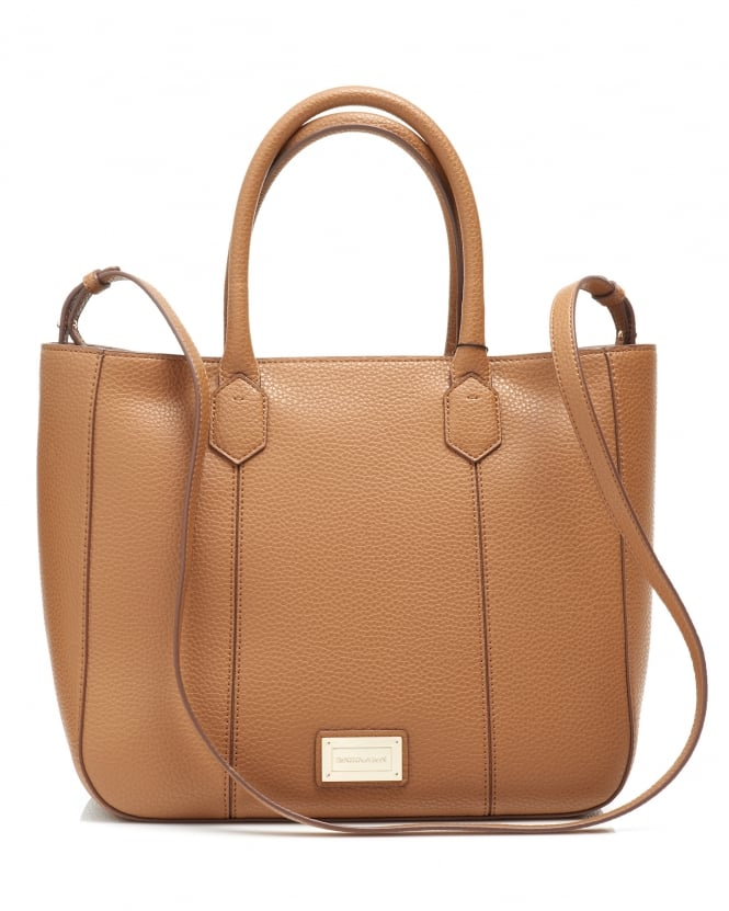 Emporio Armani Womens Large Panelled Shopper Tan Bag