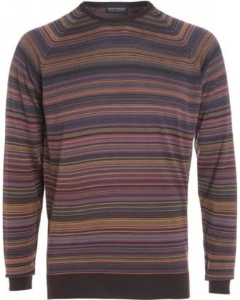 Espresso And Bronze Stripe 'Tobius' Jumper