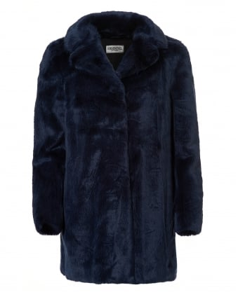 Womens Obechian Faux Fur Night Sky Car Coat