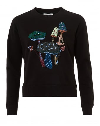 Womens Onegara1 Sweatshirt, Sequin Toad Stall Black Jumper