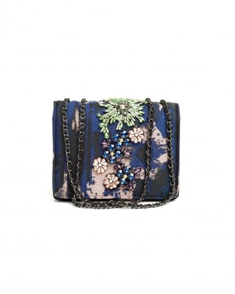 Womens Opatsy Mini Bag, Embellished Night Sky Evening Bag