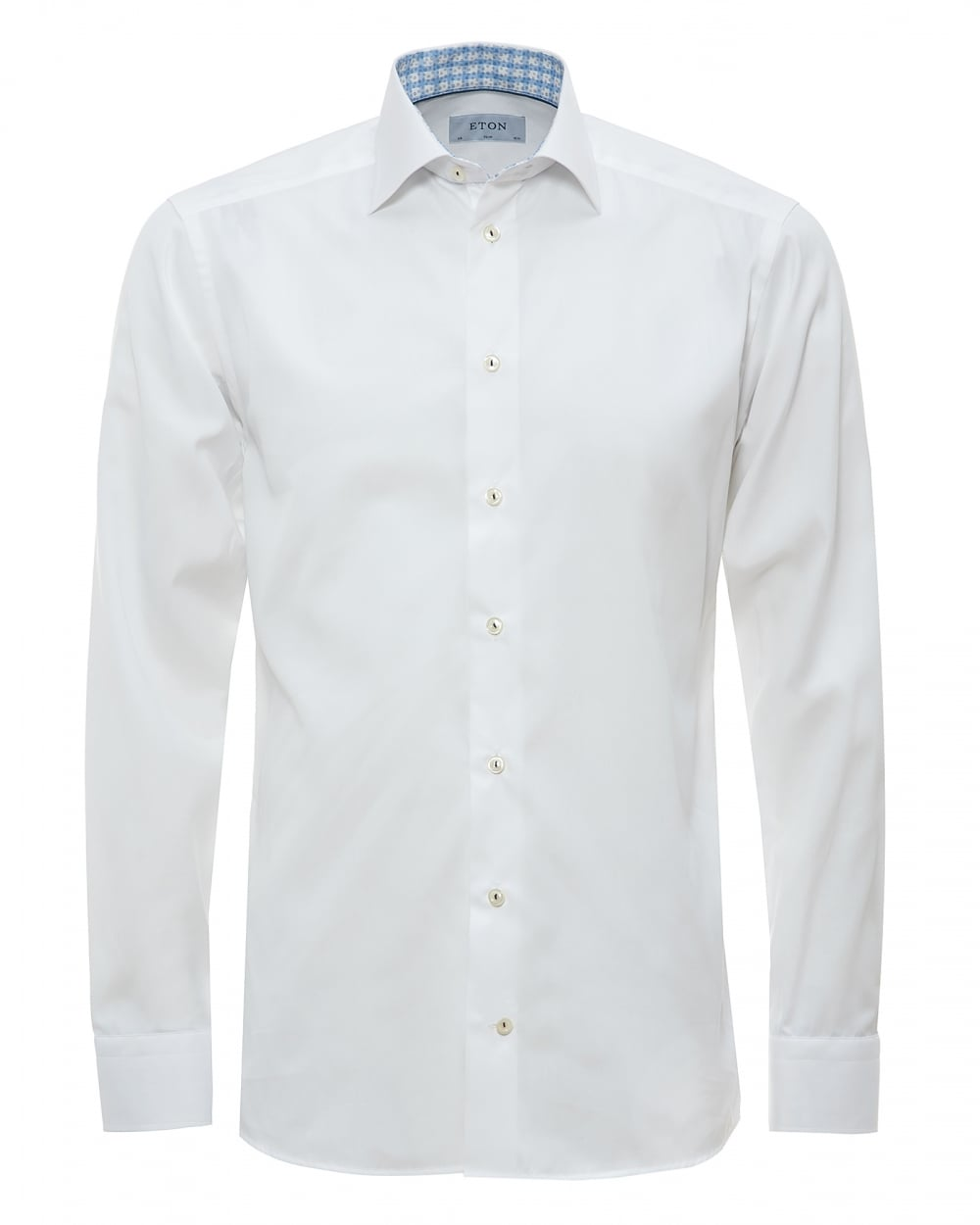 Eton Shirts Mens Contrast Collar And Cuff White Shirt