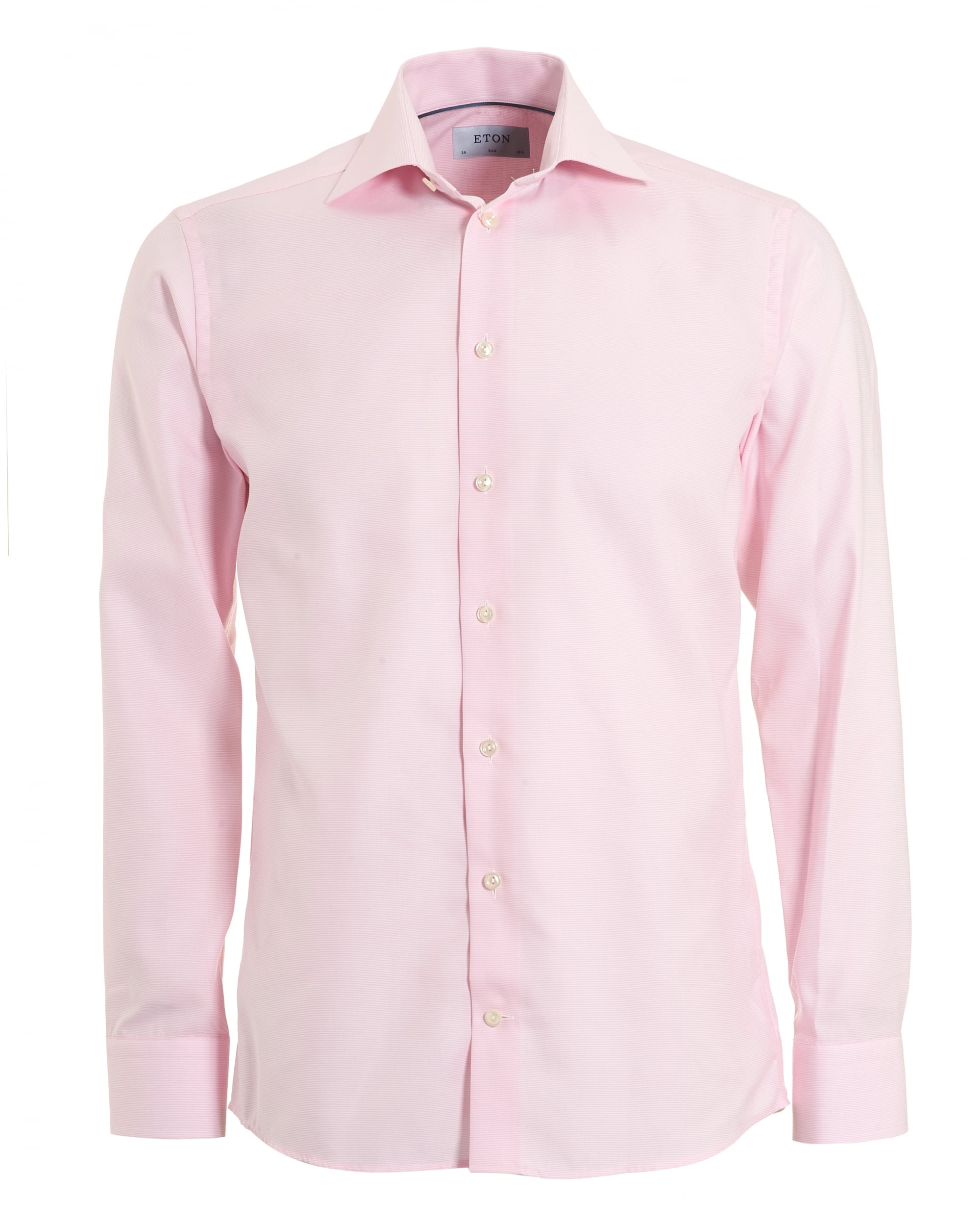cba3614a16ee Eton Shirts Mens Slim Fit Pink Button Down Collared Shirt